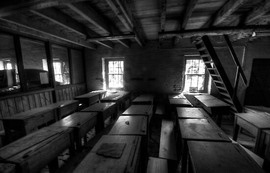 Spirits Of Students Past - Goulburn Brewery, Goulburn NSW Australia #3 HDR B&W- The HDR Experience by Philip Johnson