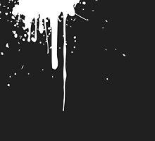 Paint Splatter Black White by designator