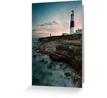 Portland Lighthouse Sunset.  Greeting Card