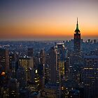 Panorama of Manhattan at sunset by javarman