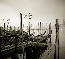 Gondolas at Grand Canal, Venice, Italy by javarman