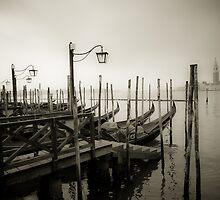 Gondolas at Grand Canal, Venice, Italy by javarman