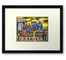 Montreal roofs Framed Print