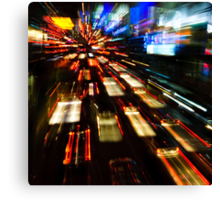 Traffic lights in motion blur Canvas Print