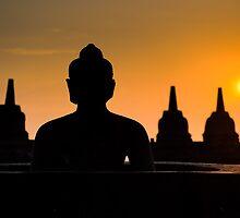 Borobudur temple at sunrise, Java, Indonesia by javarman