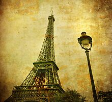 Vintage image of Eiffel tower by javarman