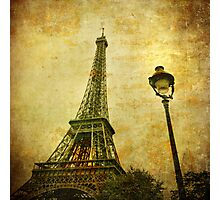 Vintage image of Eiffel tower Photographic Print