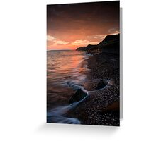 West Bay Sunset Greeting Card