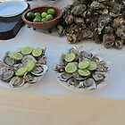 Fresh oysters with lime at the Malecón, Olas Altas Beach - Ostiones frescos, Puerto Vallarta, Mexico by PtoVallartaMex
