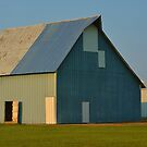Blue Patchwork Barn by Sheryl Gerhard