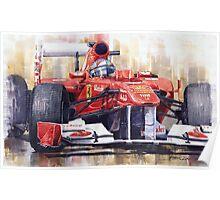 Ferrari 150 Italia Fernando Alonso F1 2011  Poster