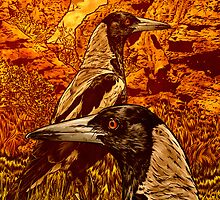 Magpies by James Fosdike