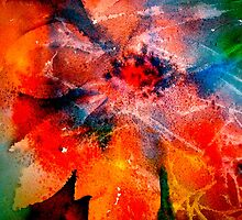 Christmas...Poinsettia Abstract... by © Janis Zroback