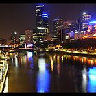 Melbourne Lights 2 by Danielle  Miner