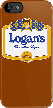 Logan's Canadian Lager (iPhone case) by Malc Foy