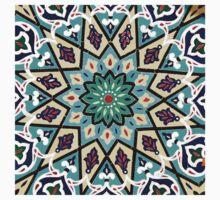 Square turquoise Mosaic by Haggiswonderdog