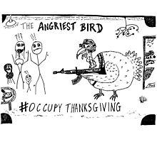 Occupy Thanksgiving editorial cartoon Photographic Print