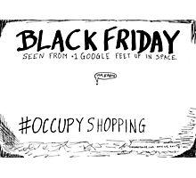 Occupy Shopping cartoon Photographic Print