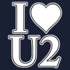 I Heart U 2 (White) by Stephen Mitchell