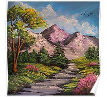 Mountain Stream - Oil & Acrylic Poster