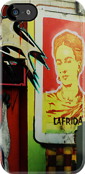 frida kahlo graffiti by djnarelle