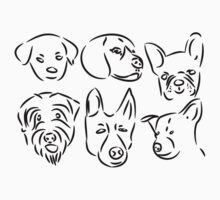 Dog Face Sketches by ChrisButler