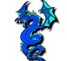 Blue Dragon iPhone Case by chrispy