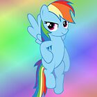 Rainbow Dash - Flying (iPhone) by GabeForsell