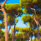 Trees, Villa Borghese, Rome by Dean Bailey