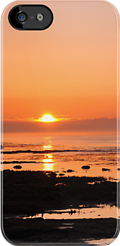 Baltic sunset IPhone case by Heather Thorsen