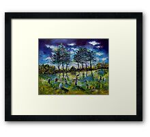 Old Cemetery at Ascot Corner Quebec Framed Print