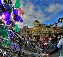 Walt Disney World Balloon Man by Matt Erickson