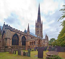 St. Wulframs Church (Back view) Grantham, Lincs. by Ray Clarke