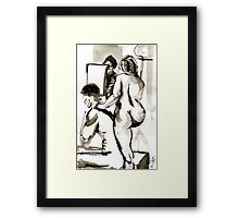 Models for Nude drawing Framed Print