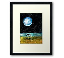 Fool Moon and a Horse Framed Print