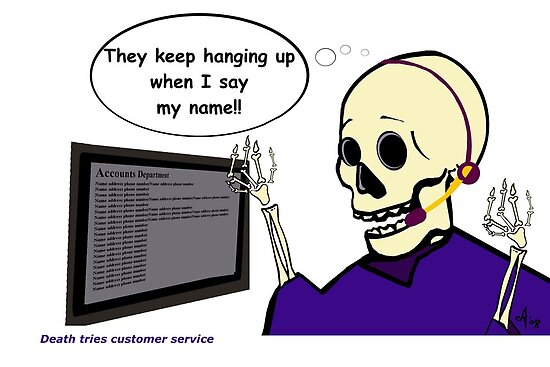 Death in customer service by Anne van Alkemade