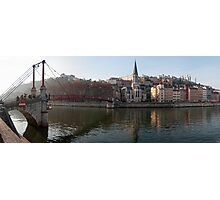 Passerelle St-Georges, and Vieux Lyon panorama Photographic Print
