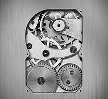 Clockwork iPhone by rubyred