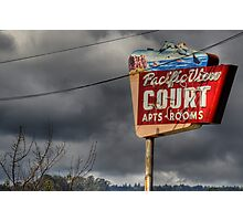 Pacific View Court Motel Photographic Print