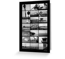 Oceanside Beach Collage Greeting Card