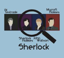BBC Sherlock Squares Kids Clothes