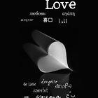 plainly ~ i love you iPhone Case B&W by Adriana Glackin