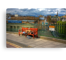 Down and Out in Edinburgh Canvas Print