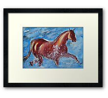 The Horse and the Sea Framed Print