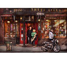 New York - Store - Greenwich Village - Three Lives Books  Photographic Print