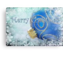 Merry Christmas blues Canvas Print