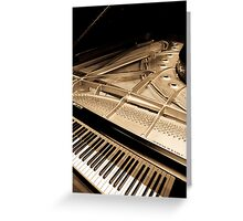 Grand Concert Piano Greeting Card