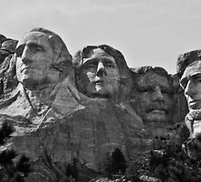 Mount Rushmore B&W by trussphoto