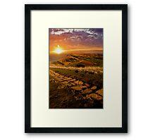 Sunrise On Mam Tor Derbyshire Framed Print