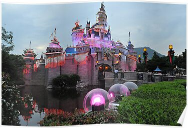 The Sleeping Beauty Castle. Disneyland, Hong Kong. by Ralph de Zilva
